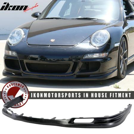 Porsche Rear Spoilers - Fits 05-08 Porsche 997 911 2Dr GT3 Style Front Bumper Lip Spoiler - Urethane PU
