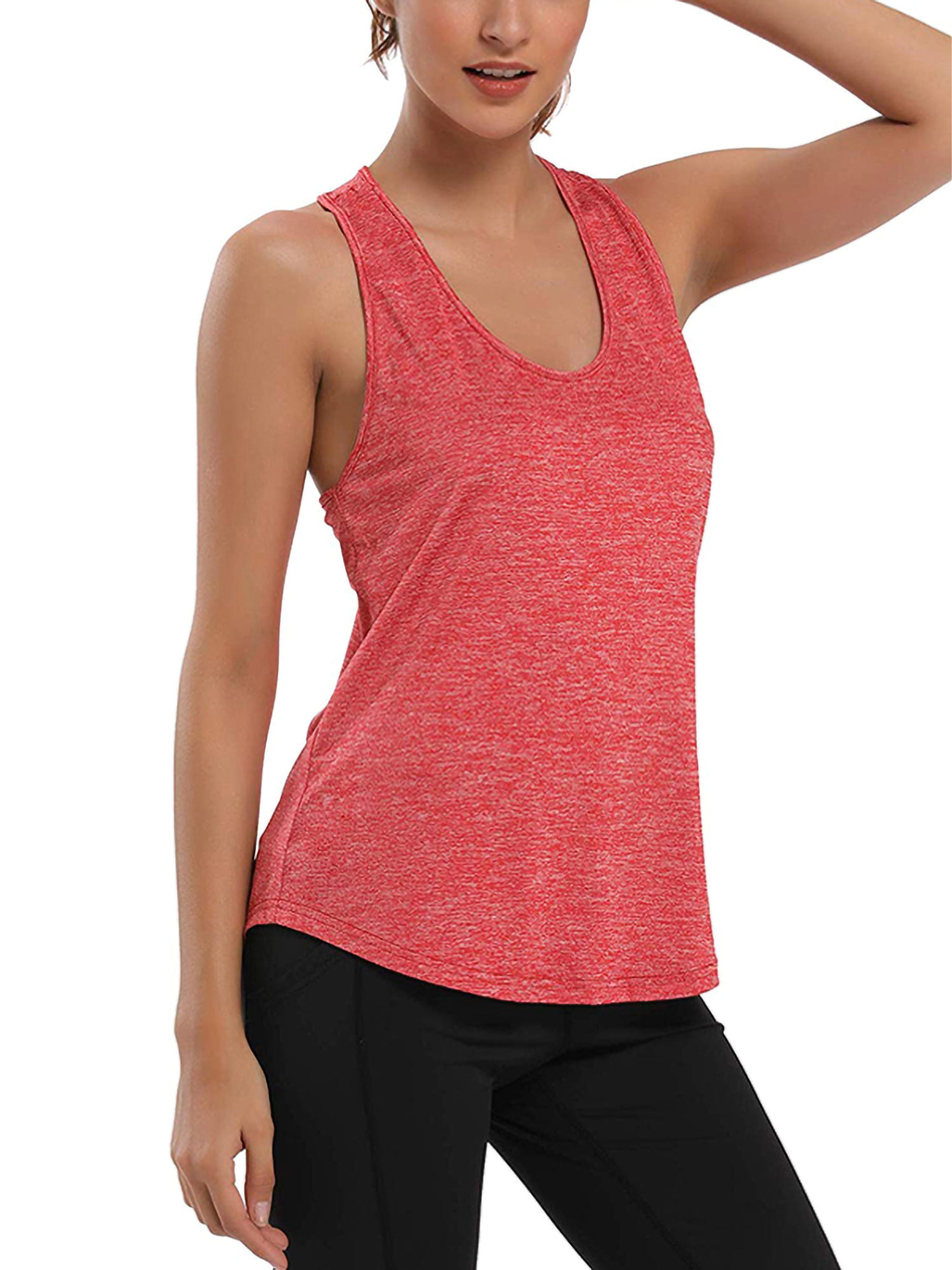 Cross Back Workout Tank Top Shirts Activewear Exercise Athletic Yoga Tops Womens