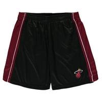 Miami Heat Majestic Big & Tall Birdseye Shorts - Black/Red