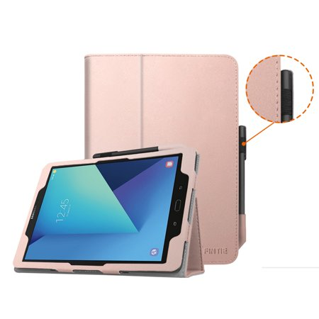 buy popular bd907 1847c Fintie Samsung Galaxy Tab S3 9.7 Case - [Corner Protection] Premium PU  Leather Stand Cover W/ Auto Wake/Sleep, Rose Gold
