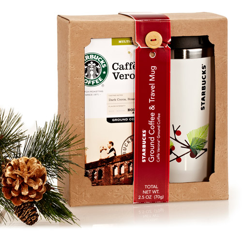 Starbucks Cafe Verona Ground Coffee & Travel Mug Gift Set