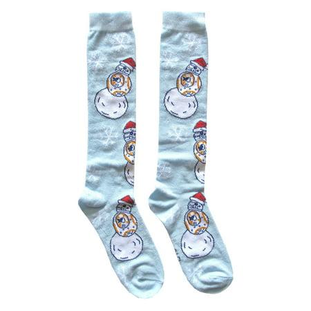 Star Wars BB-8 Pattern Santa Cap Junior/Women's Christmas Socks Shoe Size