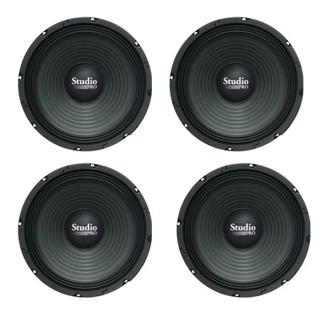Lot of (4) Pyramid WH10 10-Inch 300 Watt High Power Paper Cone 8 Ohm