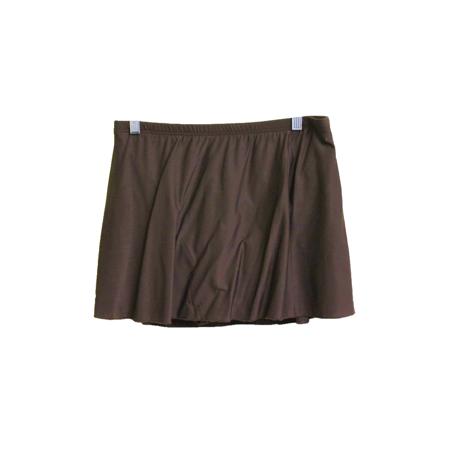 Miraclesuit Dark Brown Swim Skirt, US 14