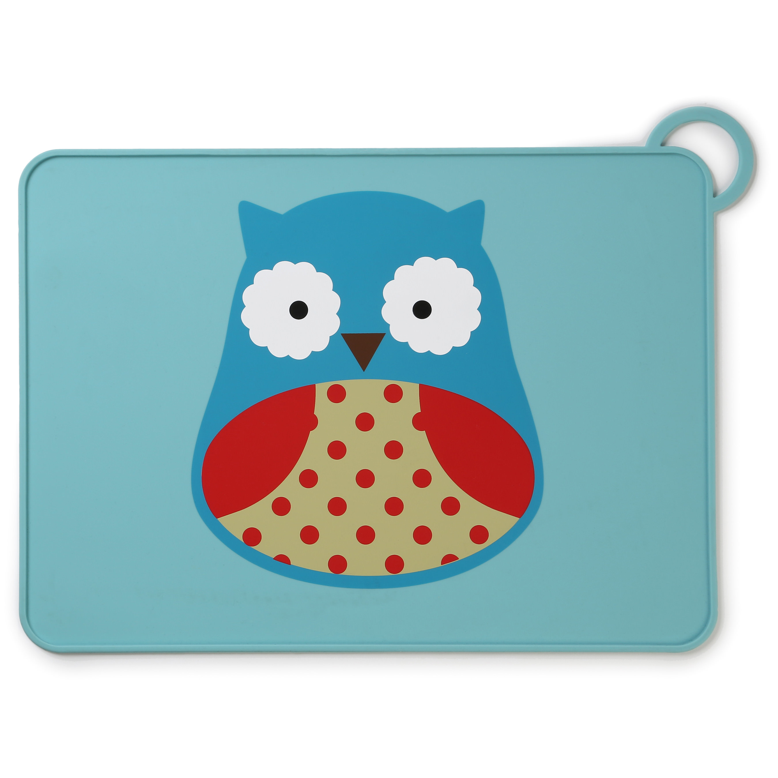 Skip Hop Zoo Fold & Go Silicone Placemat, Owl