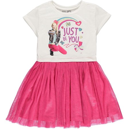 8b4d9712d927 Nickelodeon Jojo Siwa - JoJo Siwa Girls  Tutu Dress with Tulle Skirt -  Nickelodeon (L-10 12) - Walmart.com