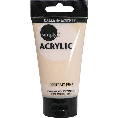 Simply Acrylic 75ml Paint Tube, Portrait Pink