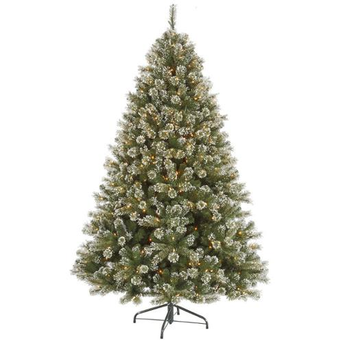 4.5' Pre-Lit Frosted Mixed Cashmere Pine Artificial Christmas Tree - Warm Clear LED Lights