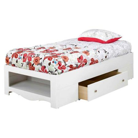 Eco Friendly 2 Drawer Twin Size Storage Bed Walmart Com
