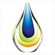 SWM 38980 4'' L x 2'' W x 6 1/2'' H Teardrop Glass Sculpture - Glass