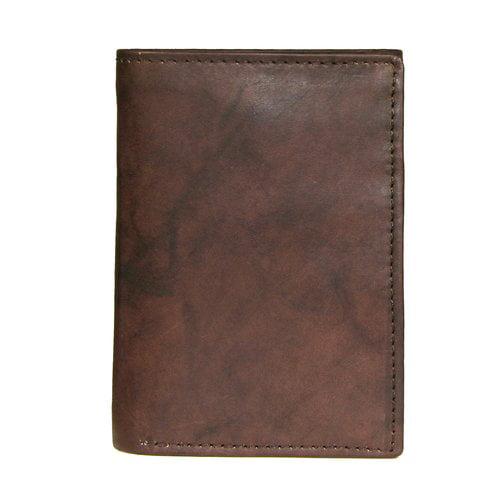RFID George Men/'s Genuine Brown Trifold Wallet Leather 9 Card Slots #2