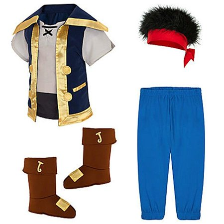 disney store jake and the neverland pirates costume 2t - 5t (3t 3 toddler) (Jake And Neverland Pirates Costume)