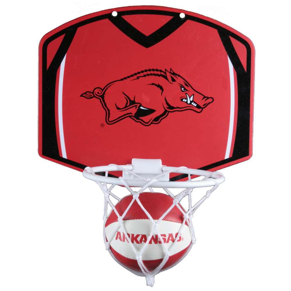 Arkansas Razorbacks Mini Basketball And Hoop Set