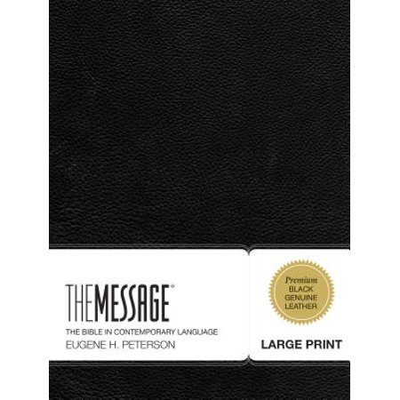 The Message Large Print (Genuine Leather, Black) : The Bible in Contemporary Language