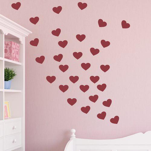 Wallums Wall Decor Hearts Desire Wall Decal