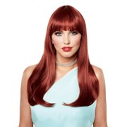 Natural Red Long Halloween Costume Wig