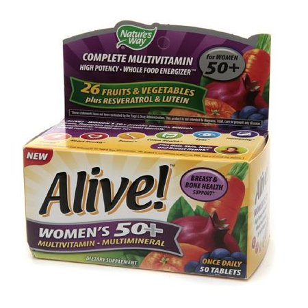 Natures Way Alive  Womens 50  Tablets  50 Ct