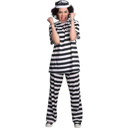Prisoner Women's Adult Halloween Costume](Dog Costume Prisoner)