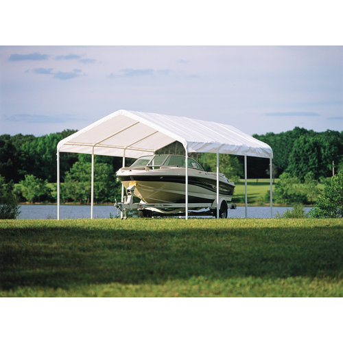 Click here to buy Super Max 12' x 20' White Premium Canopy by ShelterLogic.