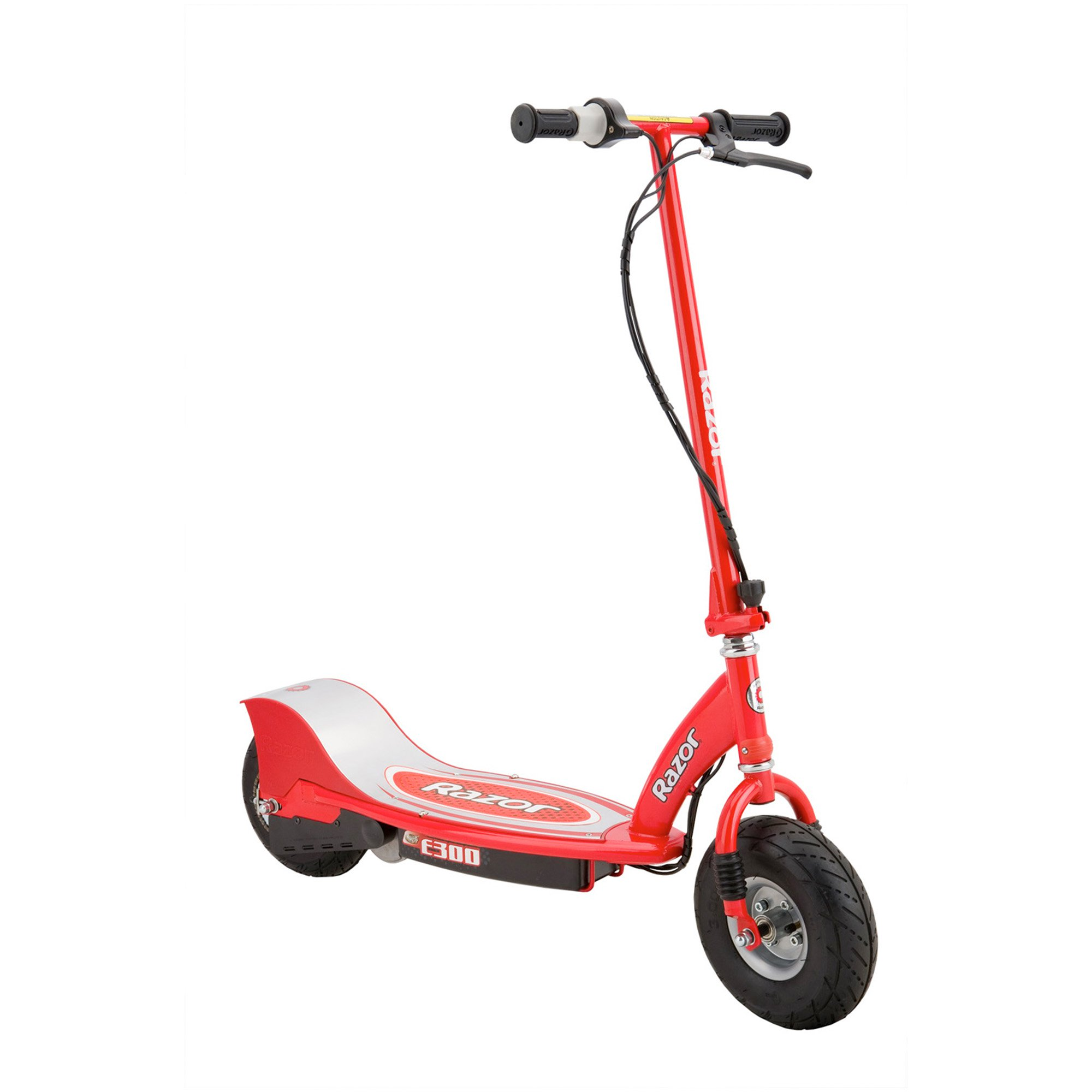 Click here to buy Razor E300 Rechargeable Electric 24 Volt Motorized Ride On Kids Scooter, Red by Razor.