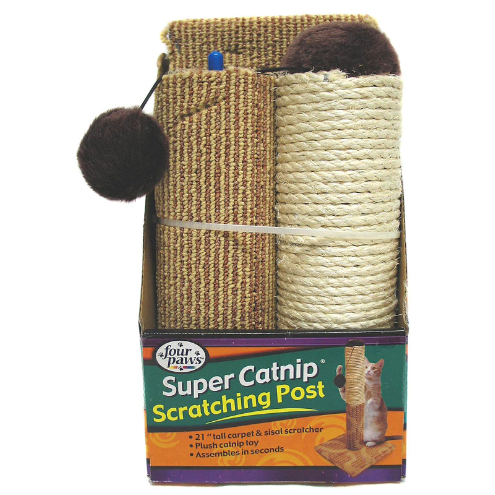 Four Paws 21 in. Super Catnip Scratching Post