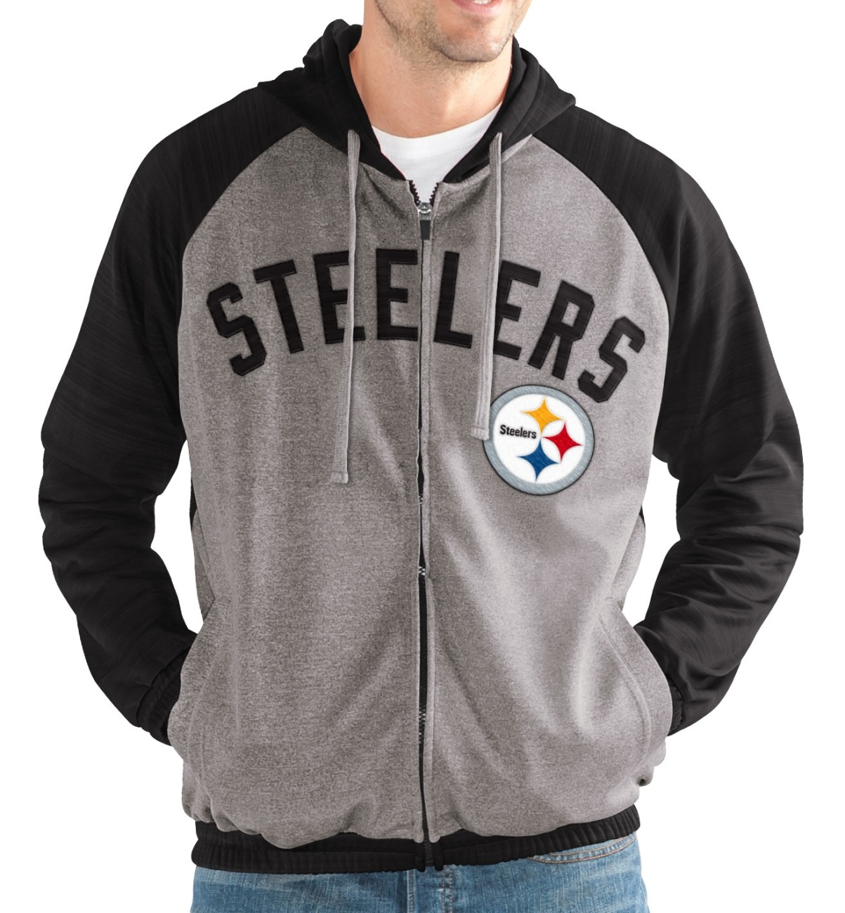 """Pittsburgh Steelers NFL G-III """"Legend"""" Men's Full Zip Embroidered Track Jacket by G-III Sports"""