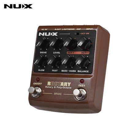 NUX ROCTARY FORCE 2-in-1 Rotary Speaker Simulator & Polyphonic Octave Guitar Effect Pedal True Bypass