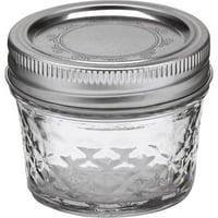 Ball Quilted Crystal Mason Jars, Regular Mouth, 4 oz, 12 Pack