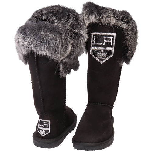 Women's Cuce Black Los Angeles Kings Devoted Boots by Cuce Shoes