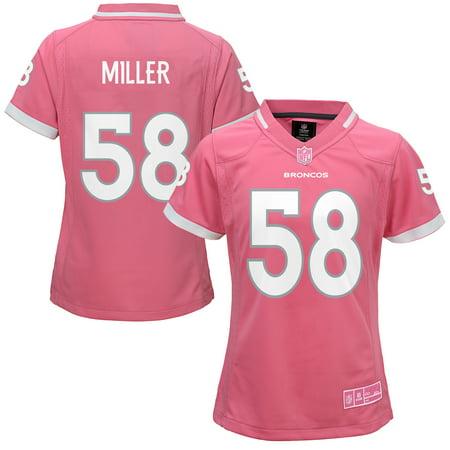 Pinks Denver (Von Miller Denver Broncos Girls Youth Bubble Gum Jersey -)