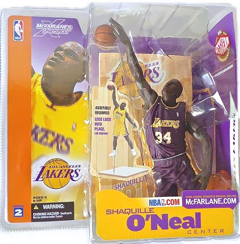 Shaquille O'Neal Action Figure Purple Jersey Variant NBA
