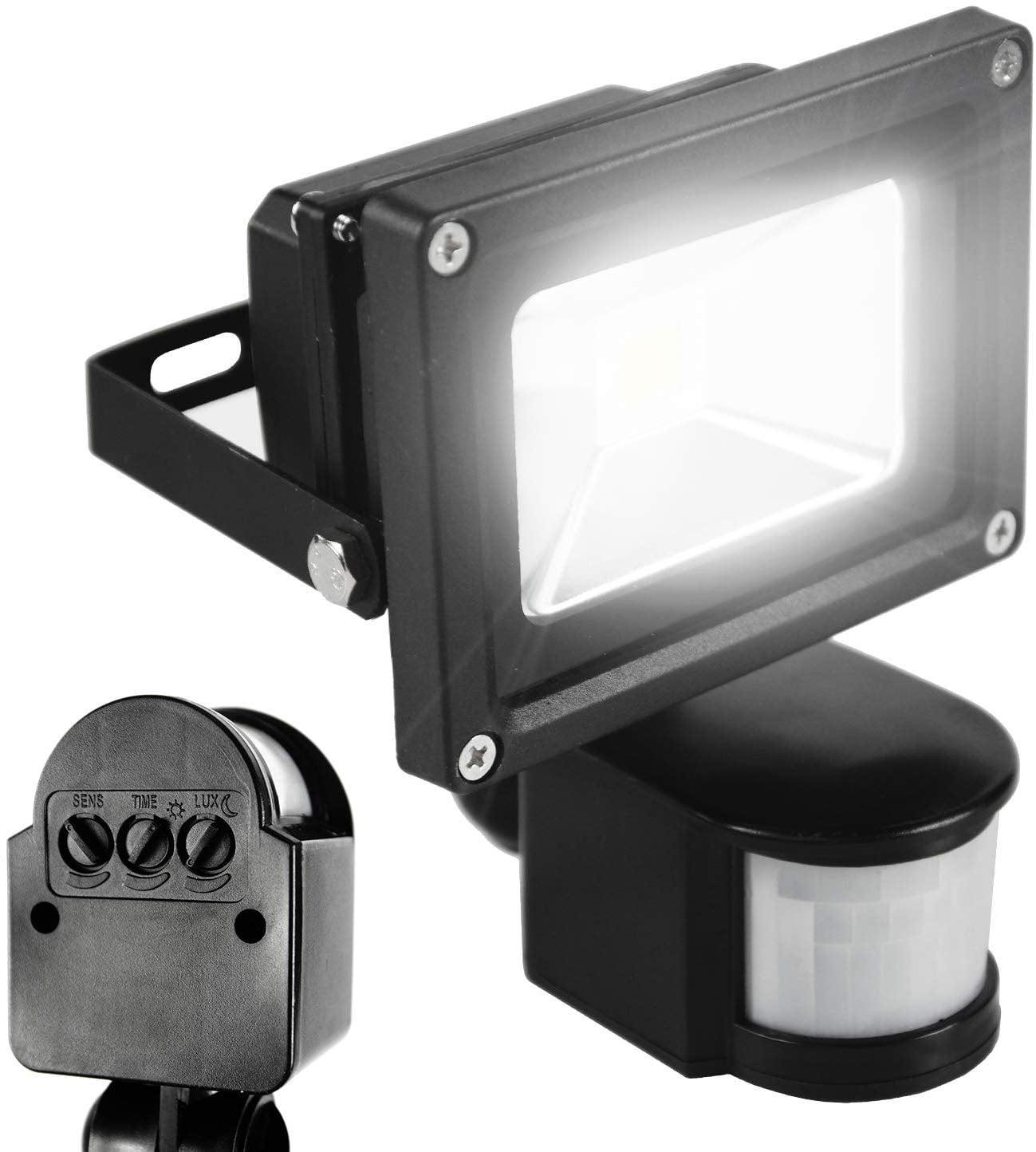 2X10W LED Flood Light PIR Motion Sensor Warm White Outdoor Garden Spot Lamp IP67