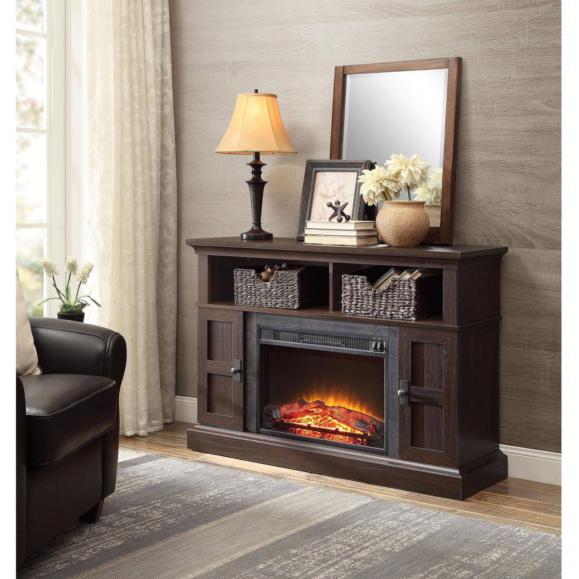 Whalen Media Fireplace For Your Home Television Stand Fits Tvs Up
