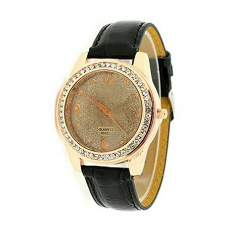 Beautiful Sparkling Gold Dust Wristwatch Fashion Crystal Design Unisex Watch:98