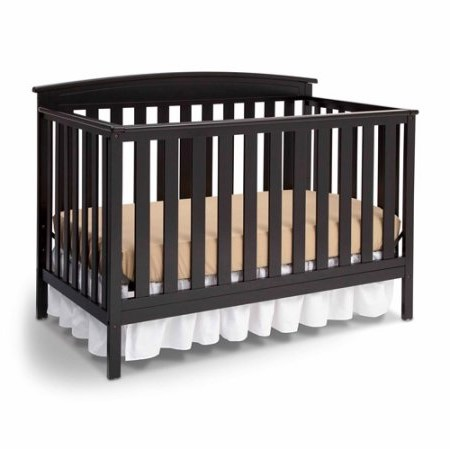 Delta Children Gateway 4-in-1 Convertible Crib, Black