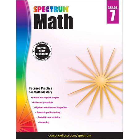 Spectrum Spectrum Math Workbook, Grade 7 160 pages