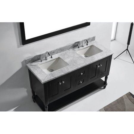 Virtu USA Julianna 59 Double Bathroom Vanity Set with Mirror