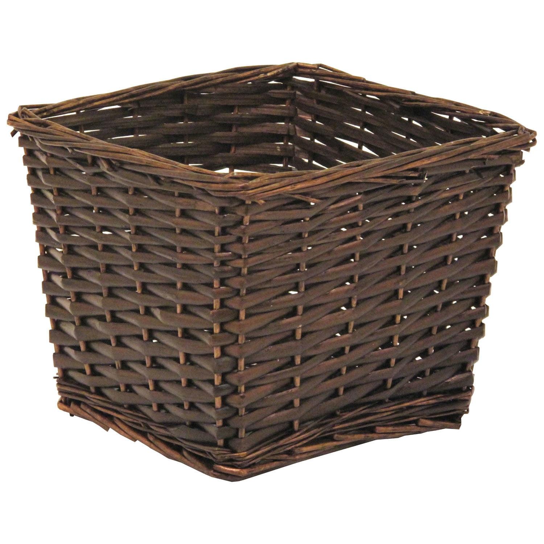 """Willow Basket, 10"""" x 10"""" x 8""""H"""