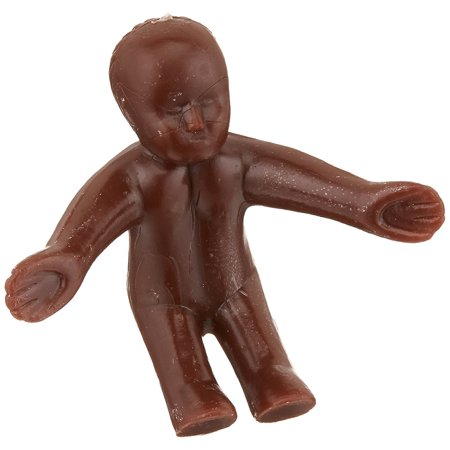 24-Piece Mardi Gras 3D Baby Topper for King Cake, African American Sitting Standing babies for King's cake or Baby Showers By Oasis Supply