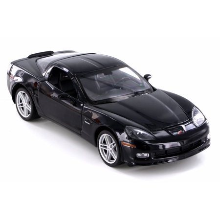 - 2007 Chevy Corvette Hard Top, Silver - Welly 22504/4D - 1/24 Scale Diecast Model Toy Car (Brand New but NO BOX)