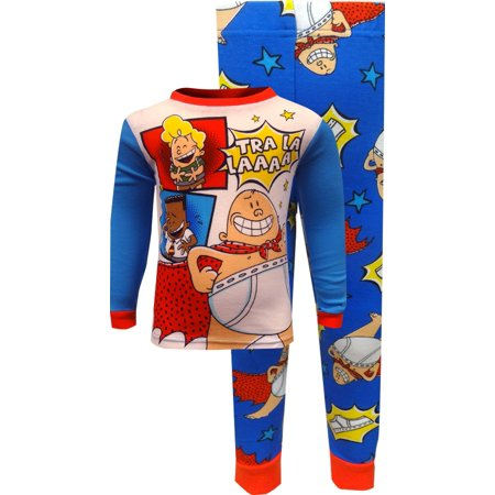 Captain America Footie Pajamas (Dreamworks 'Captain Underpants' Movie Cotton)