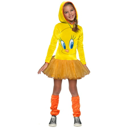 Looney Tunes Tweety Hooded Costume for Kids](Looney Tunes Halloween Costume)