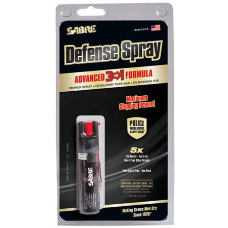 Sabre 3-in-1 Compact Pepper Spray with Clip