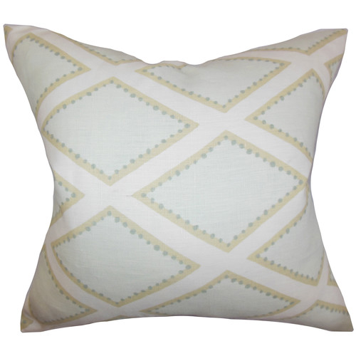 The Pillow Collection Alaric Geometric Cotton Throw Pillow