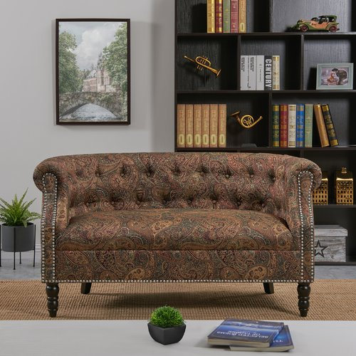 Winston Porter Jeon Chesterfield Loveseat