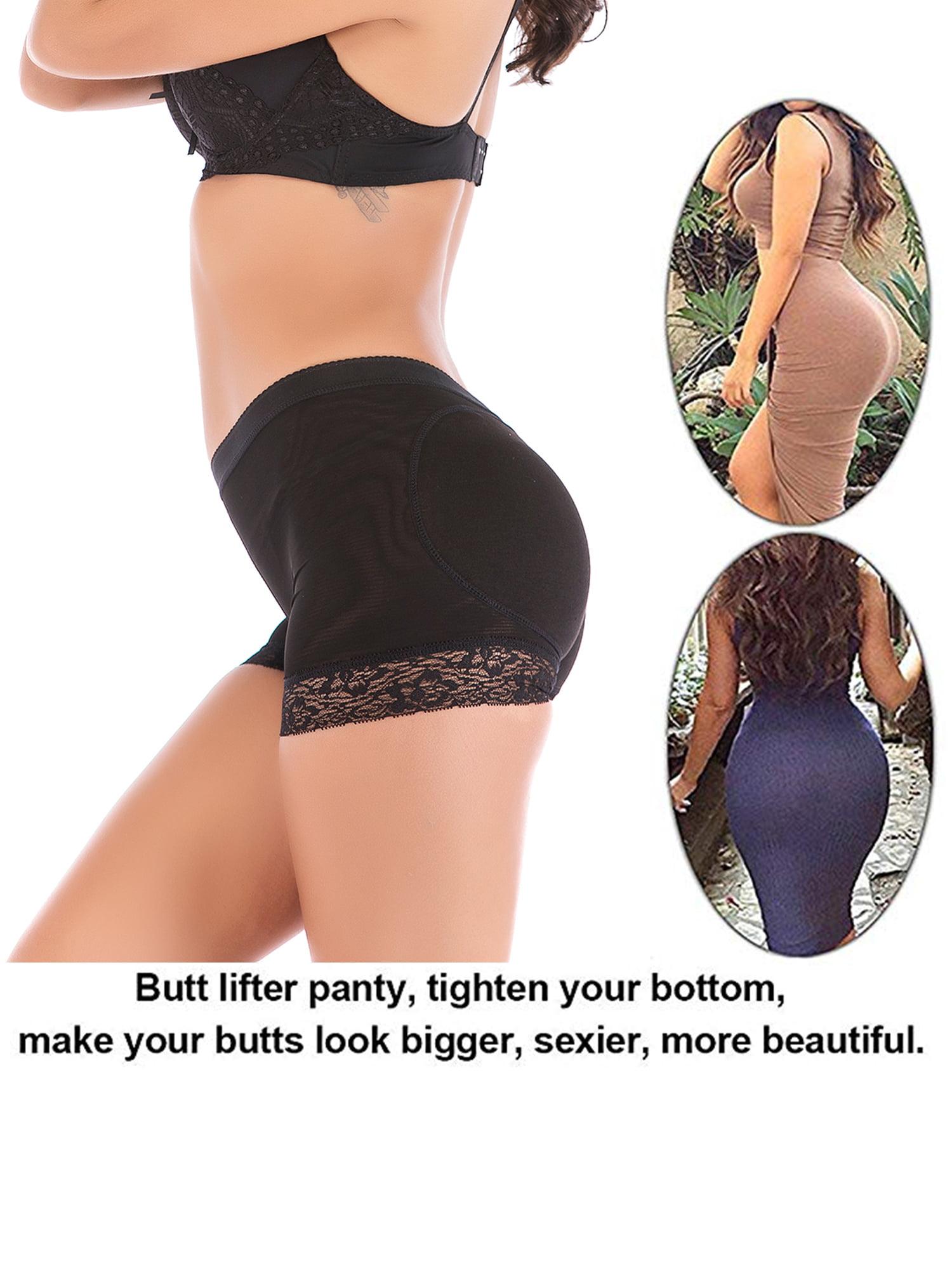 4ae6a3a4ee0 Lelinta - Women s Seamless Sexy Lace Butt Lifter Underwear Hip Enhancer  Boyshorts Body Shaper Tummy Control Panties Shapewear - Walmart.com