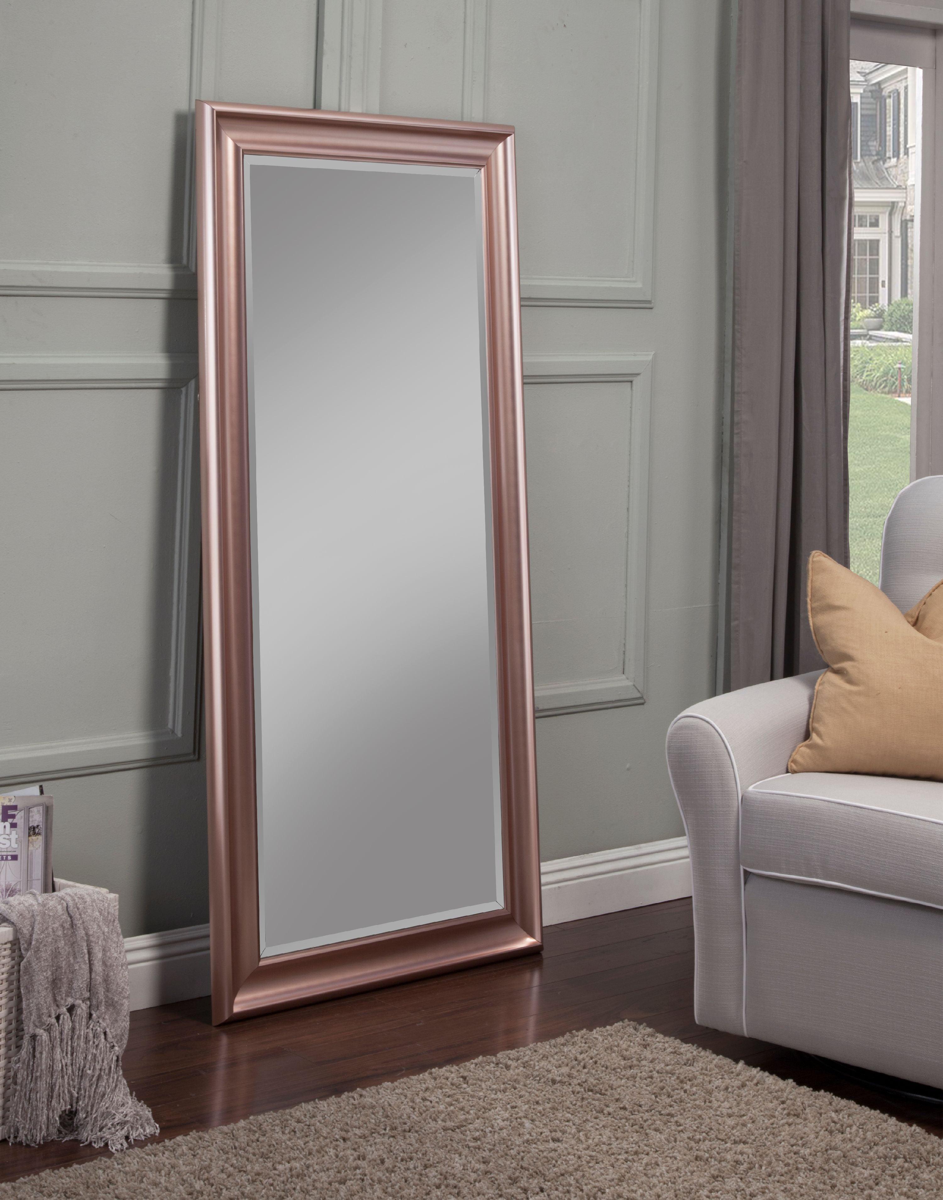 Rose Gold Full Length Leaner Mirror by Sandberg Furniture