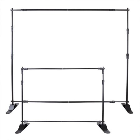 Portable Chart Stand - BestEquip 8' Banner Stand Adjustable Display Backdrop Lightweight Portable Trade Show Wall for Photography