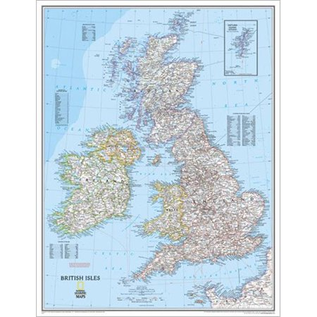 Map Of Ireland Highways.National Geographic Re00620154 Map Of Britain And Ireland Laminated