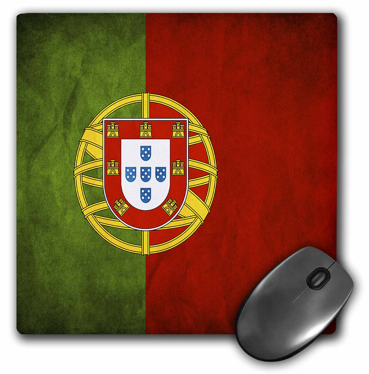 3dRose Portugal Flag, Mouse Pad, 8 by 8 inches by 3dRose